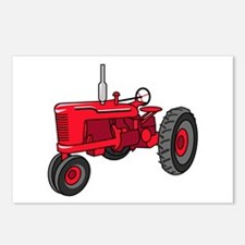 Vintage Red Tractor Postcards (Package of 8)