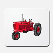 Vintage Red Tractor Mousepad