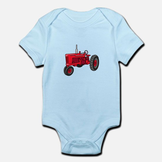 Vintage Red Tractor Body Suit