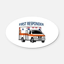 First Responder Oval Car Magnet