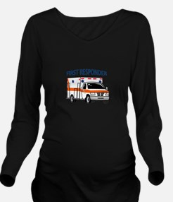 First Responder Long Sleeve Maternity T-Shirt