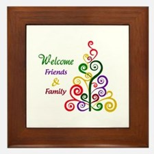 Welcome Friends and Family Framed Tile