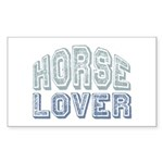 Horse Lover Equine Riding Rectangle Sticker