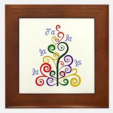 Fa La La Tree Framed Tile