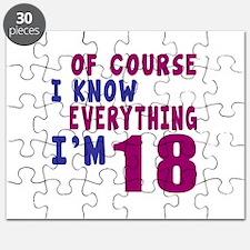 I Know Everythig I Am 18 Puzzle