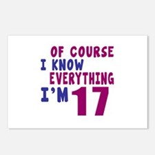 I Know Everythig I Am 17 Postcards (Package of 8)