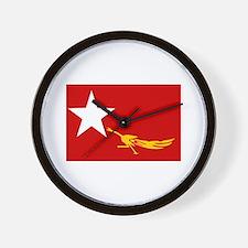 NLD BURMA FLAG Wall Clock