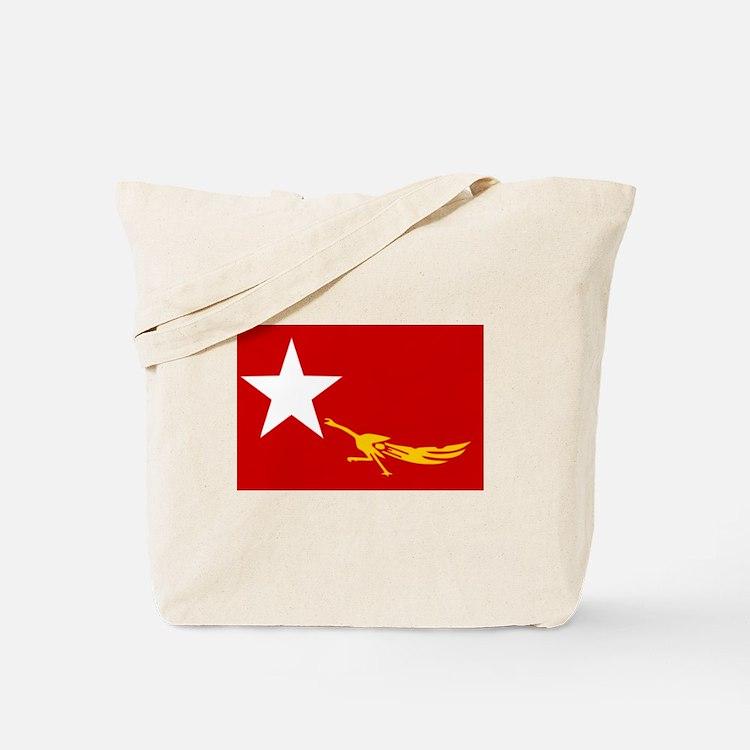 NLD BURMA FLAG Tote Bag