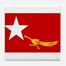 NLD BURMA FLAG Tile Coaster