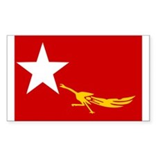 NLD BURMA FLAG Rectangle Decal
