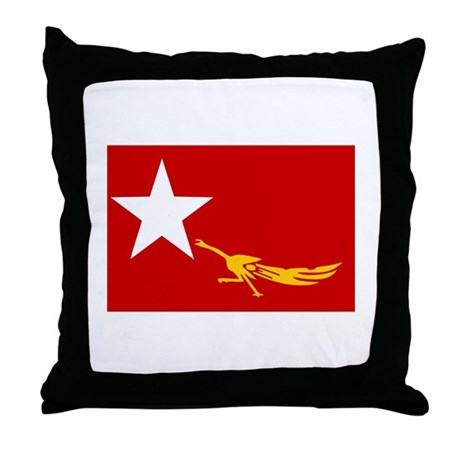 NLD BURMA FLAG Throw Pillow