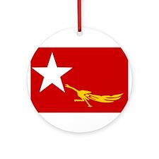 NLD BURMA FLAG Ornament (Round)