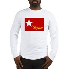 NLD BURMA FLAG Long Sleeve T-Shirt