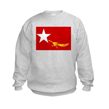 NLD BURMA FLAG Kids Sweatshirt