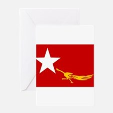 NLD BURMA FLAG Greeting Card