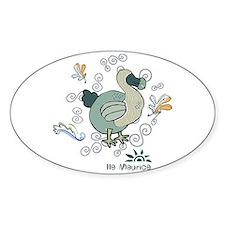 dodo Oval Decal