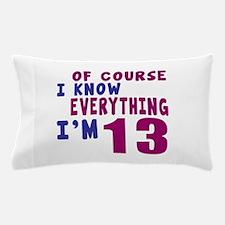 I Know Everythig I Am 13 Pillow Case