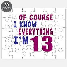 I Know Everythig I Am 13 Puzzle