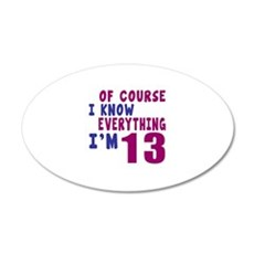 I Know Everythig I Am 13 Wall Decal
