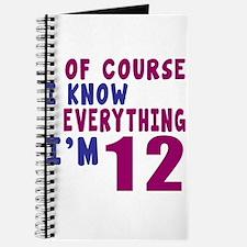 I Know Everythig I Am 12 Journal