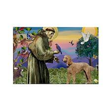 St Francis / Std Poodle(a) Rectangle Magnet (10 pa