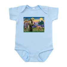 St Francis / Std Poodle(a) Infant Bodysuit
