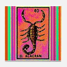 El Alacran & Stripes Tile Coaster