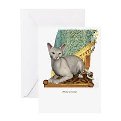 White Oriental Greeting Card