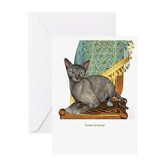 Tortie Oriental Greeting Card