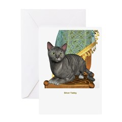 Silver Tabby Greeting Card