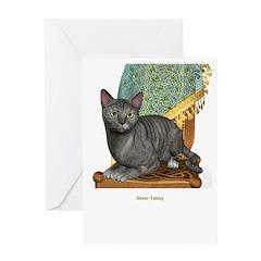 Silver Tabby Greeting Card