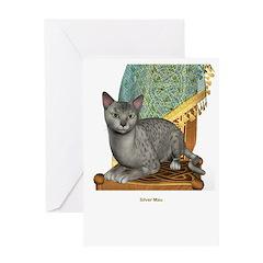 Silver Mau Greeting Card