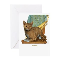 Red Tabby Greeting Card