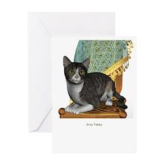 Grey Tabby Greeting Card