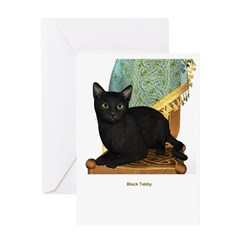 Black Tabby Greeting Card
