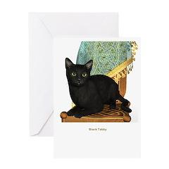 Black Tabby Greeting Card