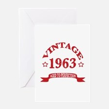 Vintage 1963 Aged to Perfection Greeting Card