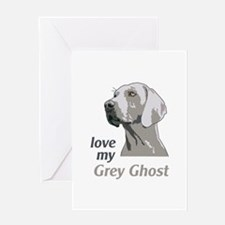 Love My Grey Ghost Greeting Cards