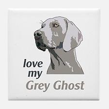 Love My Grey Ghost Tile Coaster
