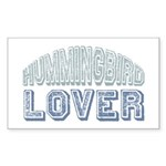 Hummingbird Lover Bird Love Rectangle Sticker