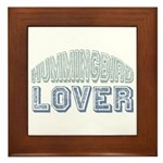 Hummingbird Lover Bird Love Framed Tile
