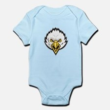 American Bald Eagle Head Screaming Retro Body Suit