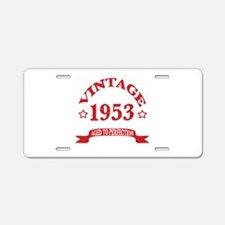 Vintage 1953 Aged to Perfec Aluminum License Plate