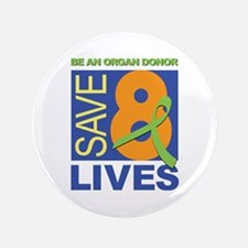 "Save 8 Lives 3.5"" Button (100 pack)"