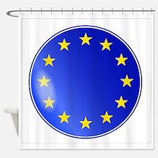 EU Button Shower Curtain