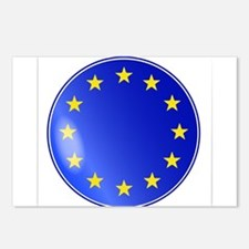 EU Button Postcards (Package of 8)