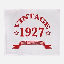 Vintage 1927 Aged to Perfection Throw Blanket