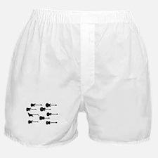 Rock Guitar Silhouettes Boxer Shorts