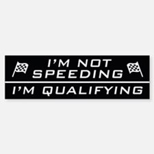 I'm Qualifying Bumper Car Car Sticker