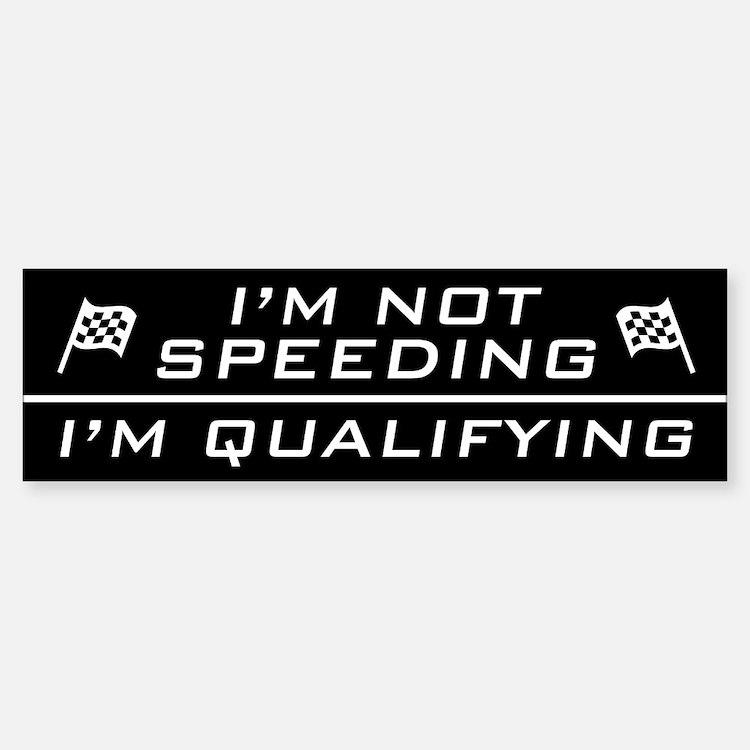 I'm Qualifying Bumper Car Car Sticker